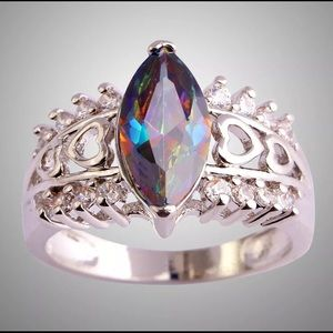 BRAND NEW .925 STERLING SILVER MARQUISE CUT